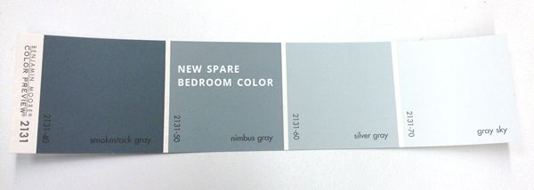 Calming Bedroom Paint Color Nimbus Gray By Benjamin