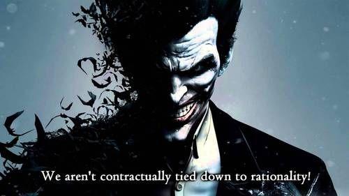 joker quotes and video game image joker batman