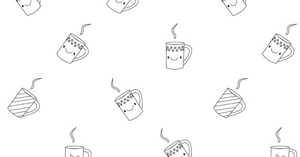 Free Printable Coloring Page Kawaii Coffee Free