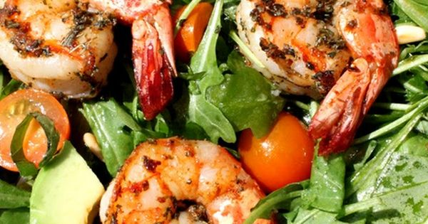 ... arugula salad recipes dishmaps spicy shrimp with avocado and arugula