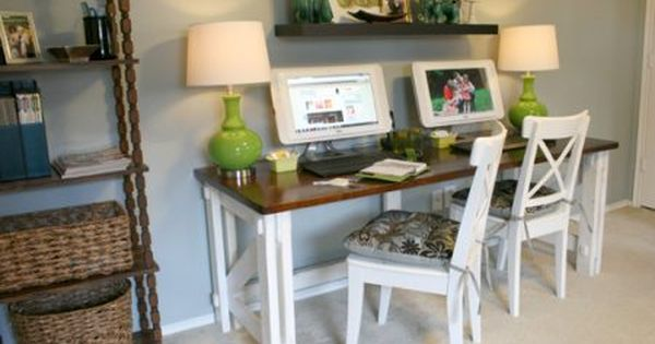 Rousing And Smart Home Office Ideas With 2 Person Desk At Ikea With Images Desk For Two