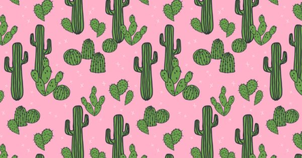 Colorful Fabrics Digitally Printed By Spoonflower Cactus Pink