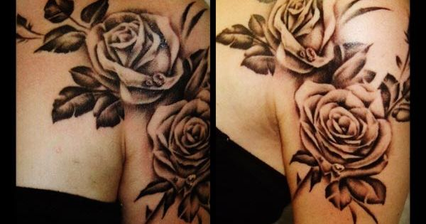 The black rose tattoo, a classic