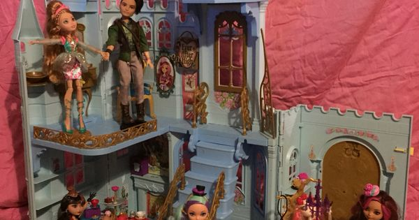 Revamped a cinderella castle into an ever after high Cinderella afternoon tea
