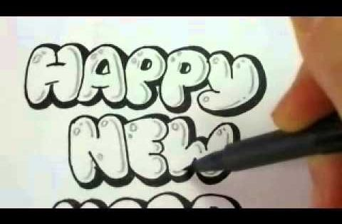 how to draw bubble letters how to draw letters make a new year sign 22281 | 059b66e7287733dcf80eeff287560f61