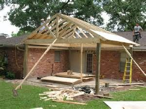 patio cover plans free standing design