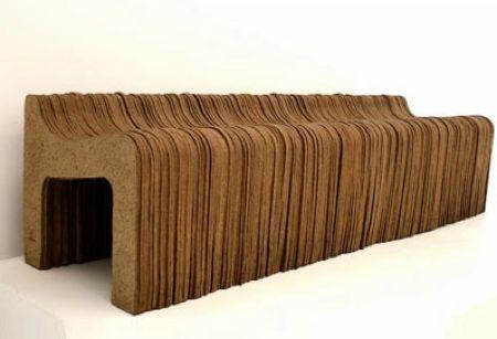 Banc En Papier Kraft Recycle Mobilier En Carton Design En Carton Objet Design