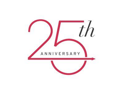 25th Anniversary Anniversary Logo Anniversary 25th Anniversary