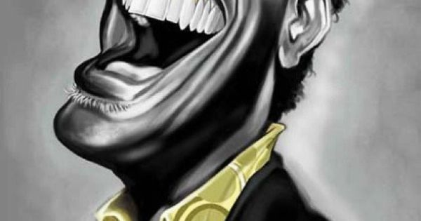 Ray Charles caricature