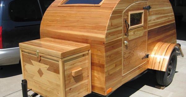 Cedar Strip Teardrop camper