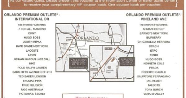 Orlando Outlets Orlando Outlet Orlando Shopping Coupon Book