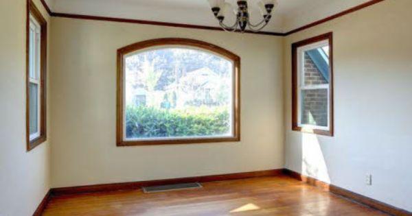 Wood floor wood trim around windows ceiling interior design