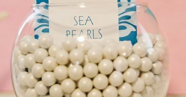 White gum sea pearls Under the Sea Mermaid Party via Kara's Party