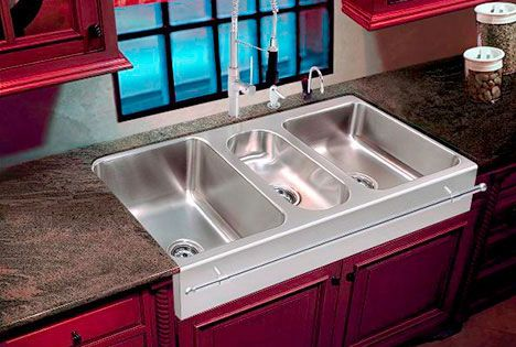 Apron Sink Undermount Triple Bowl 18 Gauge Stainless