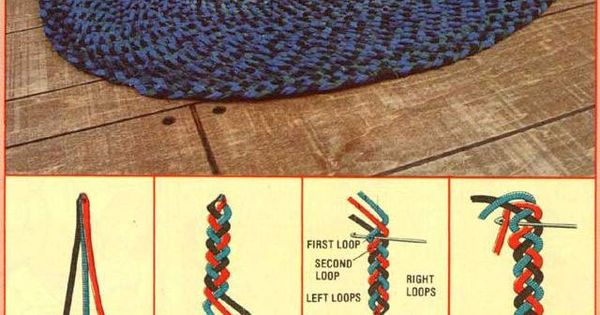 An Interwoven Braided Rug Do It Yourself Homemade Rugs