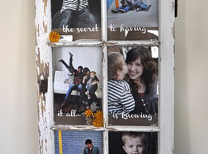 Old Window Turned Picture Frame. I have to do this with the