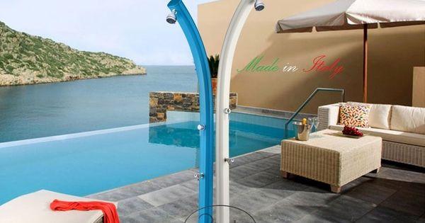 Dettagli su doccia solare jolly a520 in alluminio for Piscina jolly