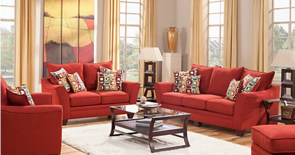 Shop For A Santa Monica Red 7 Pc Living Room At Rooms To Go Find Living Room Sets That Will