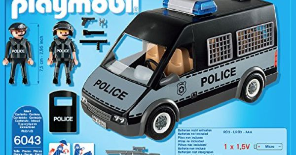 Playmobil 6043 Voiture De Patrouille De La Police Avec