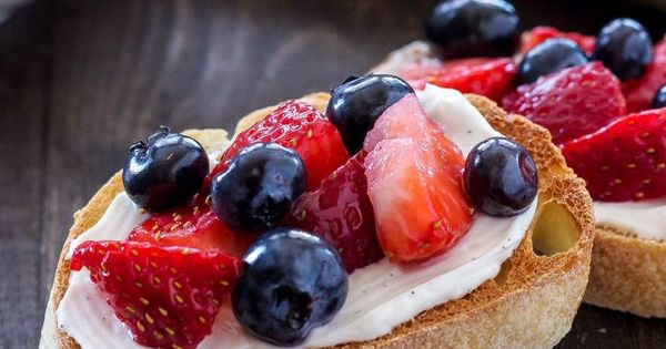 Bruschetta, Berries and Sweet on Pinterest