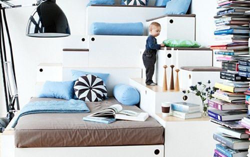 Multi-level kids bed