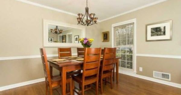 find this pin and more on dining room love the two tone - Dining Room Two Tone Paint Ideas