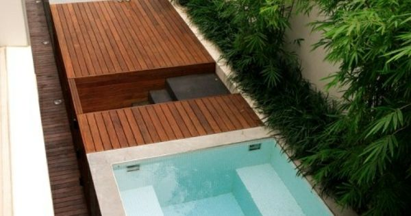 mini pool garten minimalistisch modern badewanne. Black Bedroom Furniture Sets. Home Design Ideas