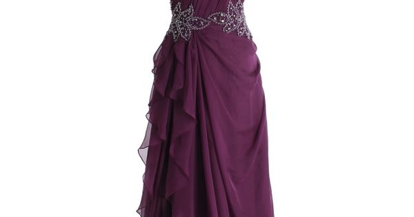 Elegant one shoulder chiffon gown. Reminds me of Hermiones Yule Ball gown