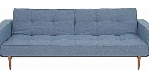 SCHLAFSOFA Blau - Blau Ulmefarben, MODERN, Holz Textil (242 79 - wohnzimmer blau holz
