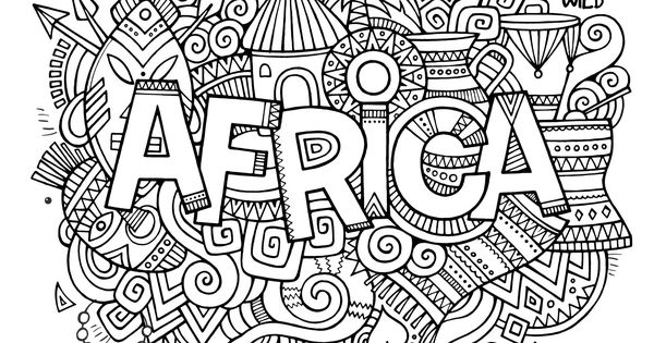 abstract coloring pages with words | Free coloring page coloring-adult-africa-abstract-symbols ...