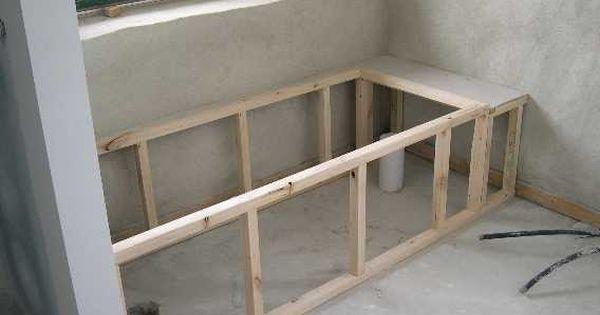 Tub Framing Ideas Bathtub Installation With Mortar