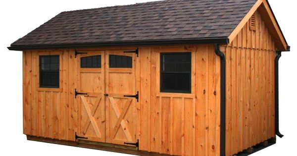 Horizon Structures 10x16 Pine Board And Batten Garden Shed