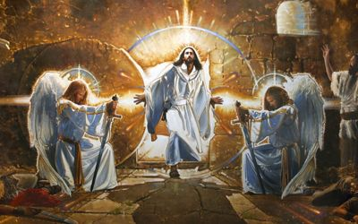 The best christian murals ron dicianni the resurrection for Christian mural