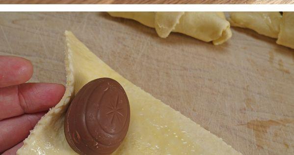Cadbury's Caramel Eggs Stuffed Croissants - holy cow! Easter Idea
