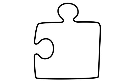 Corner Puzzle Piece | School Projects | Pinterest | Puzzle ...