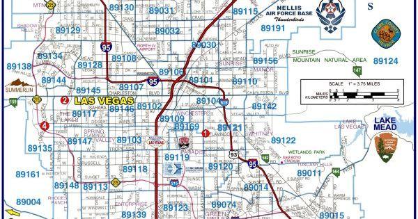 Las Vegas Zip Code Map 2012  Zip Codes In The Southeast