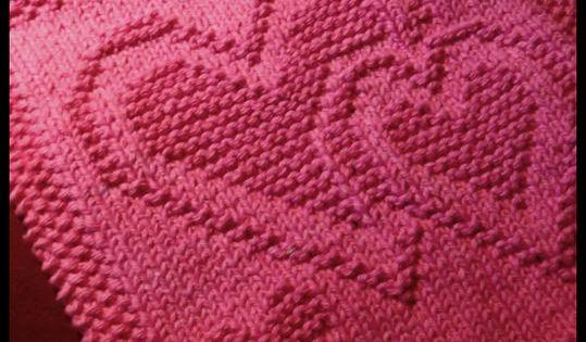 KrisKnits...: A Valentine Surprise....free pattern knit squares Pinterest...
