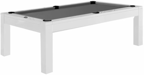 Aragon 7 Foot Dining Pool Table White With Images Pool Table