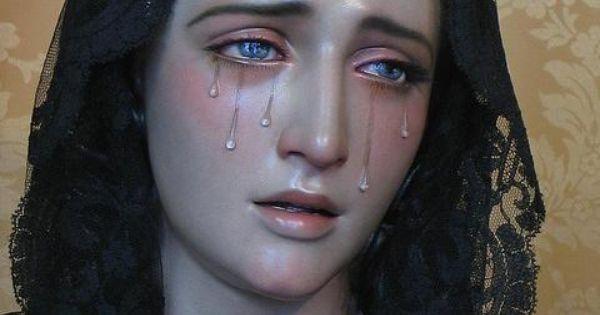 crying mary statue via monohorntumblr creative piety