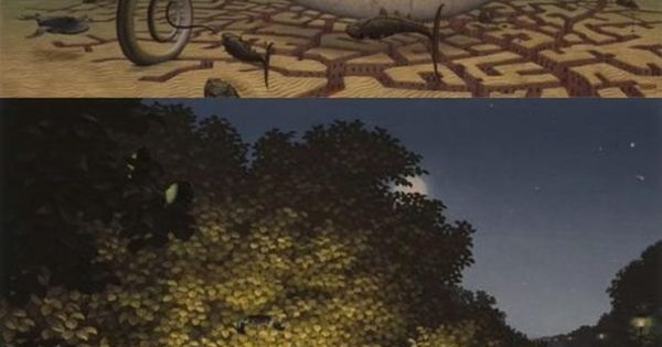 I wish I could dream in these prints. Jacek Yerka - neoSurrealism?