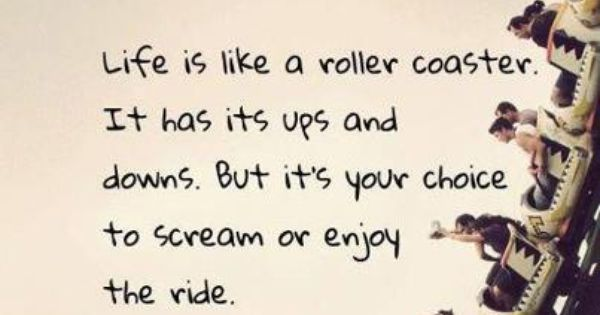 Life Is A Roller Coaster...