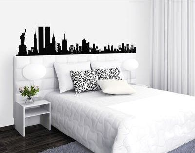 D coration chambre ado new york t te de lit sticker mural for Fresque murale definition