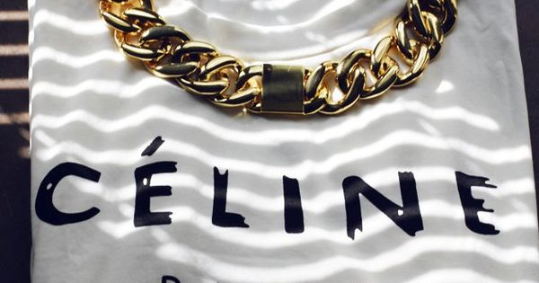 Céline - Paris celine paris tshirt chain outfit style fashion like