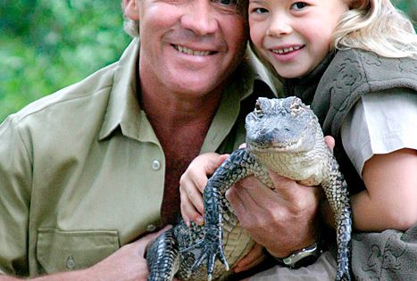 Bindi Irwin and her late father, Steve Irwin. He would be a
