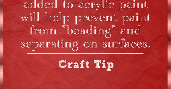 Craft painting tip