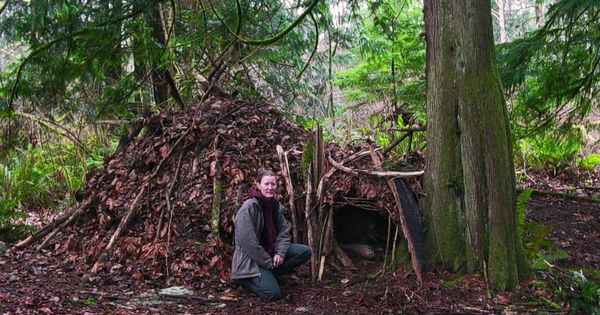 Shelter Tent Mining : How to build a survival shelter outdoor life pinterest