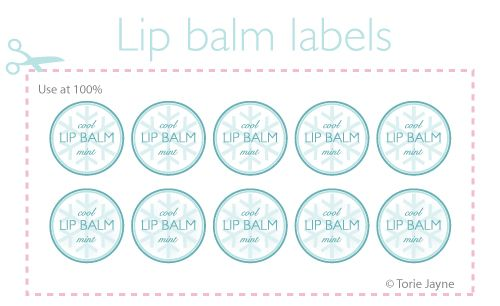 Cool Mint Lip Balm Labels Free Download From Torie Jayne