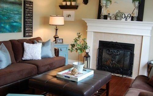 Aqua and brown living room home pinterest aqua - Brown and aqua living room pictures ...