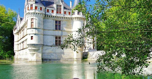 Château de Azay-le-Rideau in the Loire Valley, France, it is a former