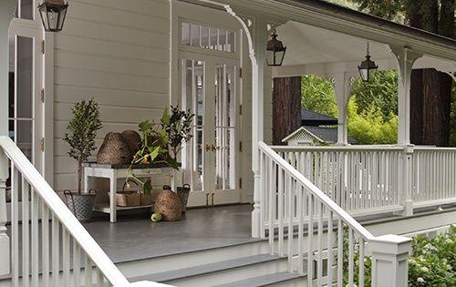 Gorgeous white farmhouse cottage porch wendy posard (I want a wrap around